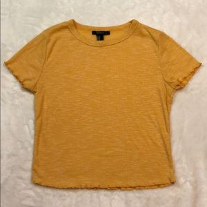 Yellow Lettuce Hem Shirt